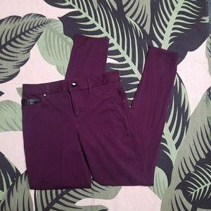 Calvin Klein Purple skinny dress pants jeans 4